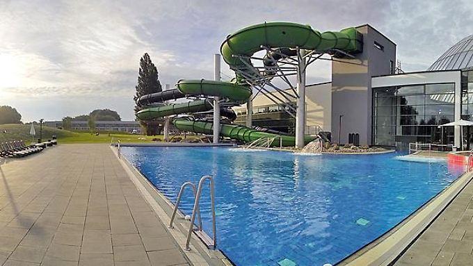 Aussenansicht des Aquaparks in Oberhausen.