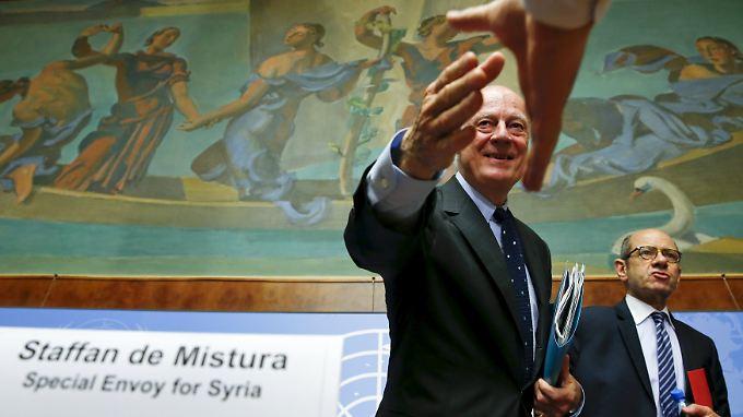 UN-Sondervermittler Staffan de Mistura wird die verfeindeten Delegationen getrennt treffen.
