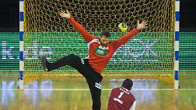 DHB-Torwart Andreas Wolff konnte nicht viel gegen die Niederlage ausrichten.