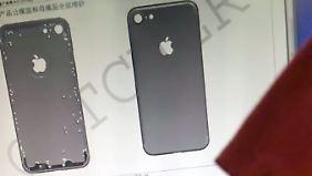So sieht die Rückseite des iPhone 7 auf den technischen Zeichnungen von Catcher Technologies aus.