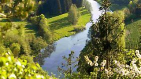 Verträumte Landschaften in der Region Frankenwald.