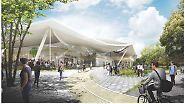 Beeindruckender Zeltkomplex: Das wird Googles futuristischer Campus
