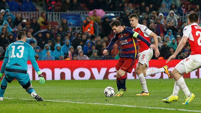 Messi erzielt das dritte Tor.