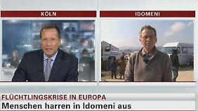 """Dirk Emmerich im Interview: Flüchtlinge in Idomeni warten auf """"ein Signal aus Brüssel"""""""