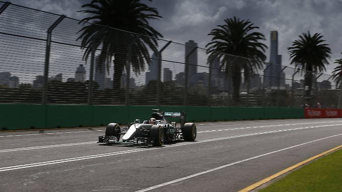 Bei der Qualifikation war Lewis Hamilton im Mercedes der Schnellste.