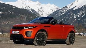 Neben dem Faltdach bietet der Range Rover Evoque auch echte Geländetauglichkeit.