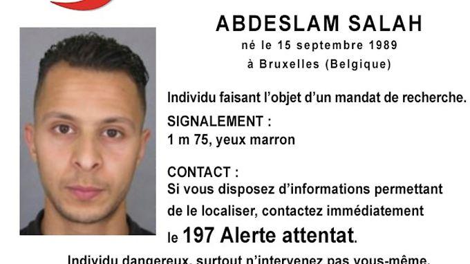 Salah Abdeslam gilt als einer der Drahtzieher der Pariser Anschläge.