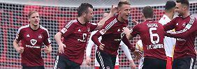 Rückschlag für Bochum, 1860: Nürnberg dreht Zweitliga-Topspiel
