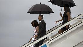 Historische Bilder im Regen: Obamas Besuch auf Kuba wird nicht ohne Spannungen verlaufen