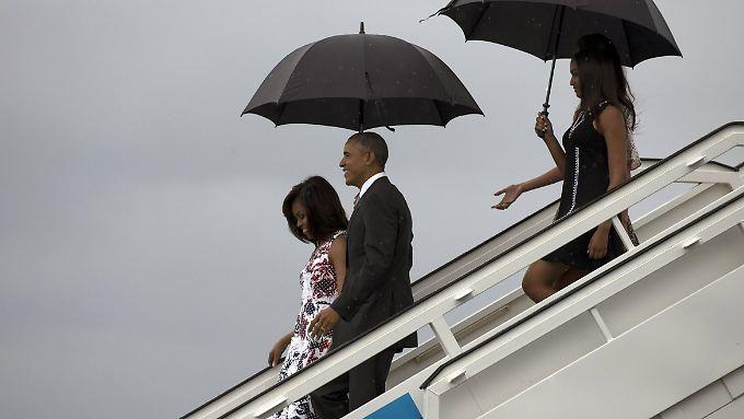 Historische Bilder im Regen: Obamas Kuba-Besuch wird nicht ohne Spannungen verlaufen