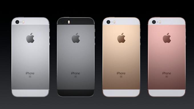 Sieht aus wie das iPhone 5S: Apple hat in Cupertino das iPhone SE vorgestellt.