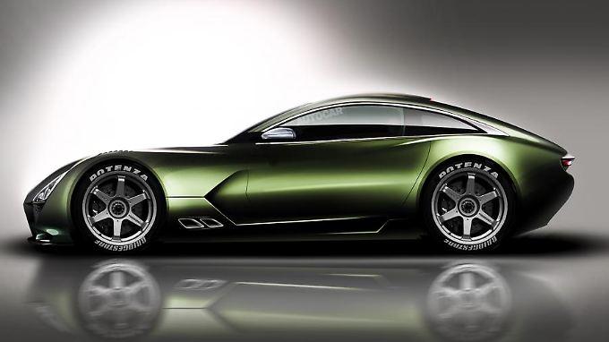 Ein bisschen vom Jaguar F-Type, ein bisschen Aston Martin: Das TVR Comeback-Modell bleibt der britischen Linie treu.