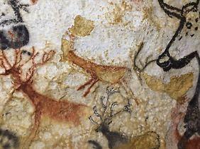 Eine Höhlenmalerei in der Höhle Lascaux IV.