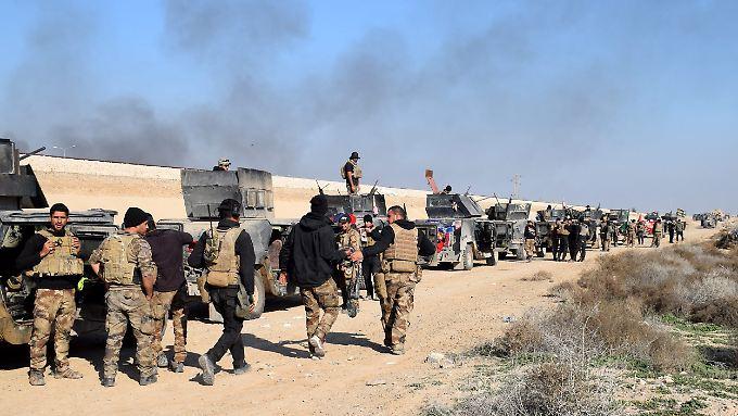 Irakische Soldaten in der Nähe von Ramadi (Archivbild).