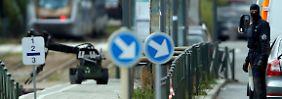 Mit einem Roboter untersuchte die Polizei einen Rucksack in Schaerbeek.