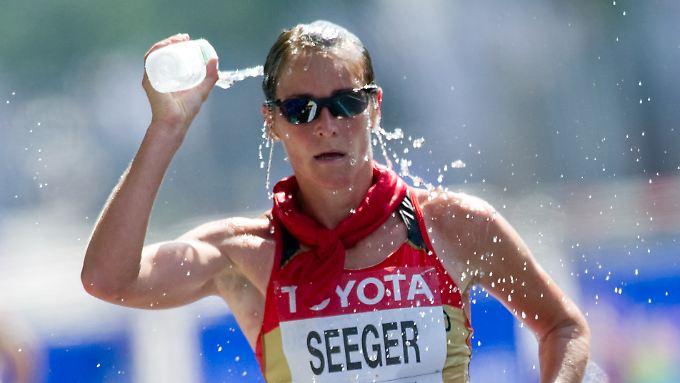 Geherin Melanie Seeger steht jetzt mit einer historischen Bronzemedaille in den deutschen Leichtathletikannalen.