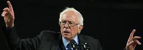In Alaska und Washington auf der Siegerstraße: Bernie Sanders