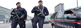 Nach den Brüsseler Anschlägen herrscht auf Italiens Straßen eine massive Polizeipräsenz (Archivbild).