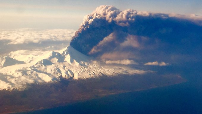 Pavlof gehört zu den aktivsten Vulkanen der Region.