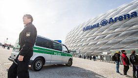 Rund um das DFB-Länderspiel in München sind rund 800 Polizisten im Einsatz.