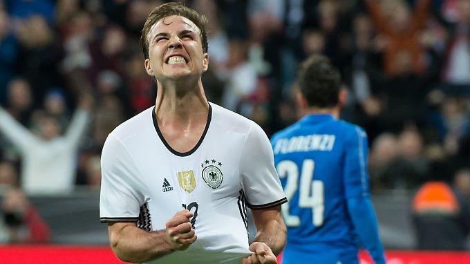 Ein befreiender Schrei und schon hat der deutsche Fußball Mario Götze wieder.