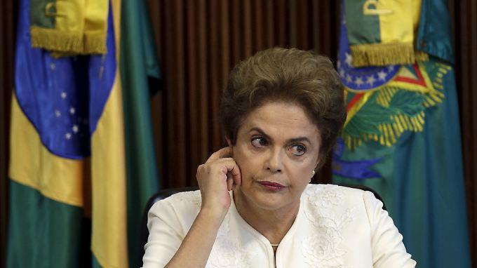 Unter Druck: Brasiliens Präsidentin Dilma Rousseff.