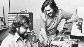 Steve Wozniak (l) und Steve Jobs 1976: An Bitcoins war damals gar nicht zu denken.
