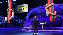 Das Am-Sack-Hängen ist ein immer wieder gern gesehener Wettbewerb in Samstagabendshows.