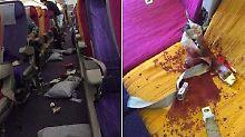 Heftige Turbulenzen im Flugzeug: Passagier wird aus Sitz geschleudert