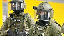 Mitglieder der Antiterroreinheit GSG9 bei einer Übung im Jahr 2014.