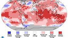 Die Temperaturen im März lagen großflächig über den Durchschnittswerten.