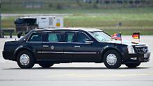 "Hochgesicherter 1000-PS-Koloss: ""The Beast"" begleitet Obama nach Hannover"