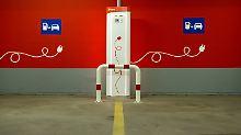 Ladestation für Elektrofahrzeuge. Den Ausbau solcher Stationen will der Bund mit 300 Mio. Euro fördern.