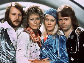 Die Gruppe Abba 1974.