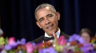 Pressedinner im Weißen Haus: Obama zieht kräftig über Trump her