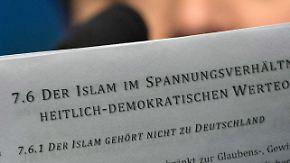 Erstes Grundsatzprogramm der AfD: Deutlicher Anti-Islam-Kurs stößt auf Kritik