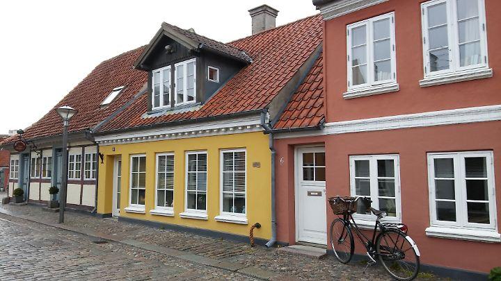 Altstadt von Odense. Hier gegenüber lebte Hans Christian Andersen.
