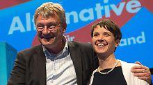 Jörg Meuthen und Frauke Petry wollen Geringverdiener schützen, haben der AfD aber wirtschaftsliberale Ziele verordnet.