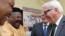 Steinmeier und Ayrault im Niger: Minister wollen Fluchtursachen bekämpfen
