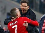 neulich im Stadion: die Herren Simeone und Ribéry.