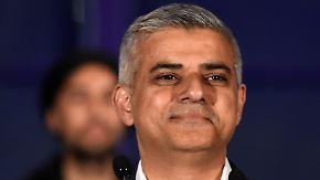 Sieg für Labour-Kandidat Sadiq Khan: London wählt zum ersten Mal einen muslimischen Bürgermeister