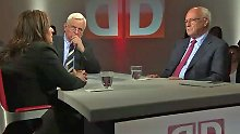 Dagdelen (l.) und Uhl (r.) im Gespräch mit Heiner Bremer.