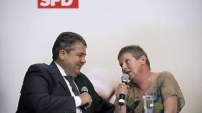 Selbstbewusster Auftritt bei SPD: Putzfrau bremst Sigmar Gabriel aus