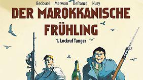 """""""Der marokkanische Frühling, Band 1: Lockruf Tanger"""" ist bei Schreiber & Leser erschienen, 128 Seiten gebunden im Albenformat, 24,80 Euro."""