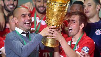 Trostpreis für Guardiola: FC Bayern feiert elften Double-Gewinn