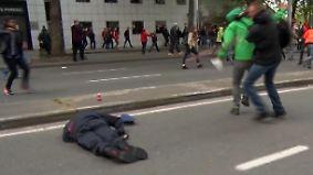 Demos gegen Reformen in Belgien: Brüsseler Hauptkommissar bei Krawallen niedergeschlagen