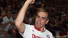 """Ich bin Fan, ich genieße es"": Philipp Lahm."