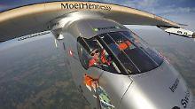 """Weltumrundung mit Sonnenenergie: """"Solar Impulse 2"""" schafft die 13. Etappe"""