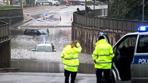 Gewitter und Starkregen in NRW: Unwetterfront treibt Wassermassen übers Land