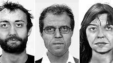 Das gesuchte Terror-Trio Ernst-Volker Staub, Burkhard Garweg und Daniela Klette.